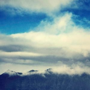 cloudy sky above the mountains