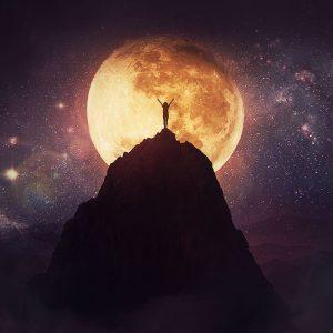 full moon woman